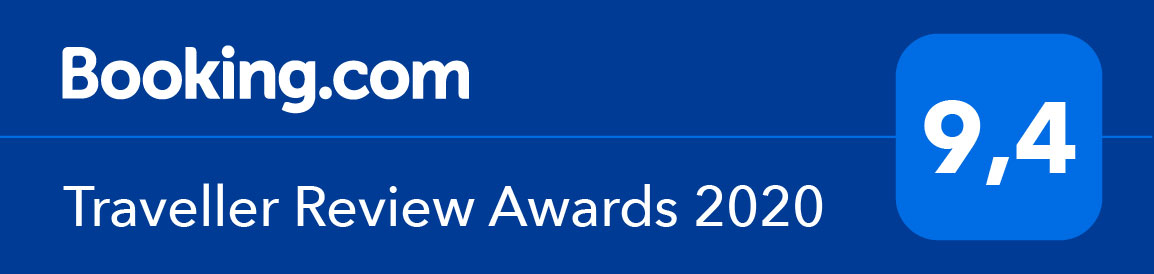 Booking.com - Traveller Review Award 2020 - 9,4