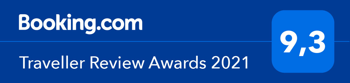 Booking.com - Traveller Review Award 2021 - 9,3